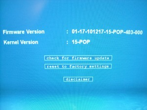 My M34A showing the updated A110 Popcorn firmware.